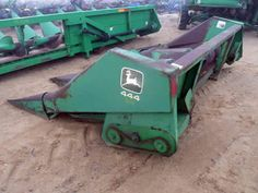 John Deere 444 header salvaged for used parts. This unit is available at All States Ag Parts in Downing, WI. Call 877-530-1010 parts. Unit ID#: EQ-24025. The photo depicts the equipment in the condition it arrived at our salvage yard. Parts shown may or may not still be available. http://www.TractorPartsASAP.com