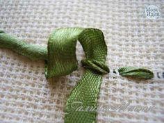 Materiales gráficos Gaby: Flor bordada con cintas