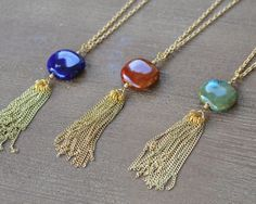 Hey, I found this really awesome Etsy listing at https://www.etsy.com/listing/256085910/long-tassel-necklace-long-tassle