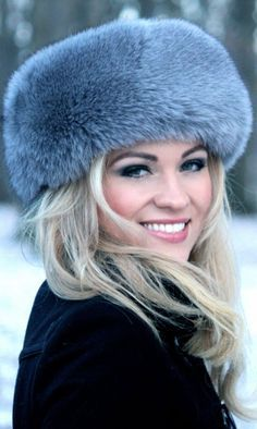 nothing says Russia to me more than a woman in a fur hat ...