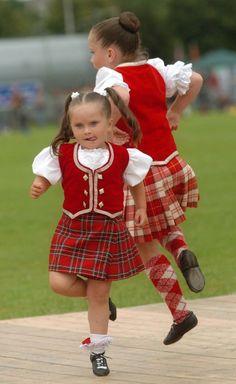 Wee Highland Dancers in Menzies Tartan