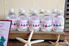 Disney Princess Inspired Water Bottle Labels by Stylingthemoment Birthday Celebration, Birthday Parties, Printable Water Bottle Labels, Disney Princess Birthday Party, Event Styling, Pink And Gold, Inspired, Inspiration, Etsy