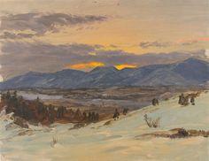 Winter Twilight by Frederic Edwin Church 1871