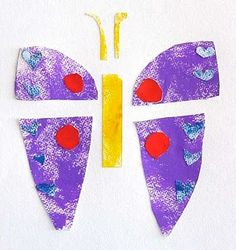 butterfly collage project inspired by Eric Carle