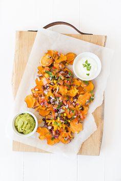 Zoete aardappel nacho's uit Feel Good Food