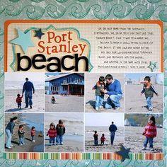 Port-stanley-beach scrapbook layout...8 photos!