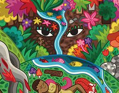 """De la Tierra venimos..."" by el Cometa ludo Artsy, Snoopy, Stickers, Drawings, Illustration, Chakras, Fictional Characters, Paintings, Sacred Feminine"