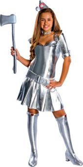 Teen Girls Wizard Of Oz Tin Woman Costume - Party City