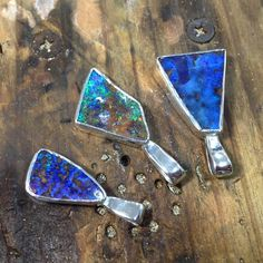 Newly made boulder opal pendants in the Bellingen store. The middle one sold straight away. Very nice craftsmanship by our new jeweller Laszlo.   Yes of course they're available! Message if interested.  #macsopals #boulderopal #australianopal #queenslandopal #opal #flash #sparkle #matrixopal #rainbowrocks #opaljewellery #jewellery #opaljewelry #jewelry #sterlingsilver