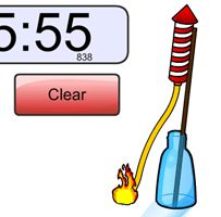 Love the rocket and fireworks! This website also has other animated options! Great for time management and clean-up countdowns!
