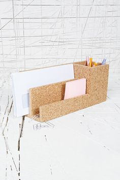 Love this, want to pin notes to it already ! / Cork Organiser at Urban Outfitters