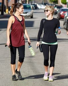 Actresses Julianne Hough, Nikki Reed and Cara Santana hit up a gym before taking Nikki's dog on a hike in Los Angeles, California on April 8...
