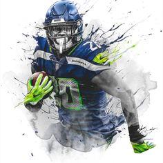 DK Metcalf, Seattle Seahawks | Daring Boy Interactive Seahawks Players, Nfl Football Players, Seahawks Fans, Seattle Seahawks, Creative Studio, Creative Director, Nfl Jokes, Shaun Alexander, Jamal Adams