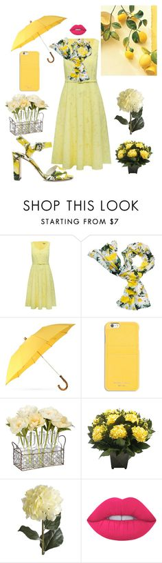 """""""Yellow like the Sun."""" by kotnourka ❤ liked on Polyvore featuring M&Co, Kate Spade, London Undercover, MICHAEL Michael Kors, Bougainvillea, Pier 1 Imports, Lime Crime and Dolce&Gabbana"""