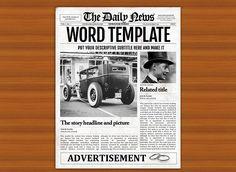 Old Newspaper Template Word Vintage Word Newspaper Template Flyer Templates Old Newspaper Template Word Old Newspaper Newspaper Template Word, Newspaper Names, Newspaper Front Pages, Newspaper Cover, Old Newspaper, Newspaper Layout, Newspaper Design, Indesign Templates, Flyer Design Templates