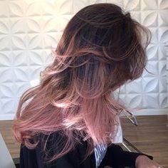 blayage rosa en cabello obscuro - Buscar con Google