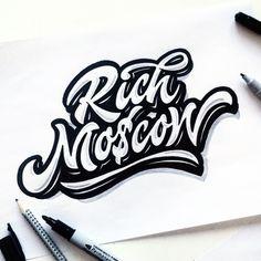 Logo,print,sketch 2015 on Behance Hand Lettering Styles, Hand Drawn Lettering, Lettering Design, Logo Design, Design Art, Graphic Design, Graffiti Lettering Alphabet, Graffiti Writing, Handwritten Logo