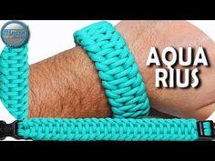 How to make Paracord Bracelet Aquarius World of Paracord DIY Paracord Tutorial Paracord Bracelet Instructions, Paracord Bracelet Designs, Paracord Tutorial, Paracord Projects, Paracord Bracelets, Bracelet Tutorial, Bracelets For Men, Paracord Braids, Paracord Knots