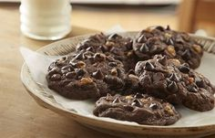 HERSHEY'S Kitchens.ca   Double Chocolate Chip Cookies Recipe