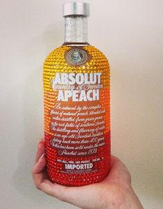 Absolut Alcohol. Handmade Bedazzled Bottle