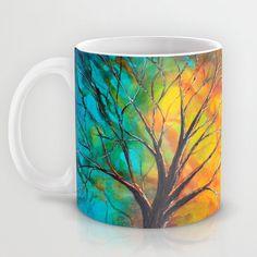 Abstract Coffee Mug Art Mug Tree Mug Unique by DesignbyJuliaBars