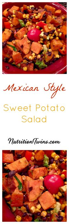 Mexican Sweet Potato Salad | Only 106 Calories | Cozy Comfort Food | Healthy & Satiating | For Nutrition & Fitness Tips, and RECIPES please SIGN UP for our FREE NEWSLETTER www.NutritionTwins.com