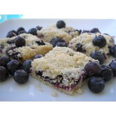 Blueberry Shortbread | You can use any summer fruit in these bars, as long as you don't use too much and it's not too wet.
