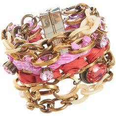 Nina Ricci Multi-Strand Chain & Ribbon Bracelet- the perfect summer bobble!!!