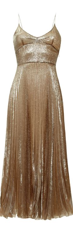 Rochas ● Silk Lurex gold Slip Dress SS 2014 is stunning!