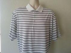 NIKE GOLF DRI-FIT Men's Polo Shirt XL Multi-color Striped Henley Short Polyester #NikeGolf #Henley #ebay #NikeGolf #Henley