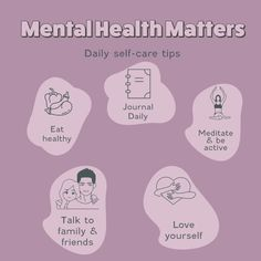 There is plenty of ways that you can take time to care for your mental health. But, a few of my favourite include... ✍journaling🧘♂️meditation👟movement💕self-love activities like affirmations👫talking to my partner or family/friends🍽filling my body with nutrition food☀My morning routine📺Binge-watching a fell-good show Self Care, Mental Health, Affirmations, Journaling, Routine, Meditation, Nutrition, Activities, My Favorite Things