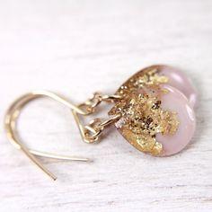 lavender purple teardrop earrings on 14k gold fill by tinygalaxies, $24.00