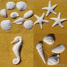 Gumpaste-Shells-Starfish-Beach-Wedding-Fondant-Cake