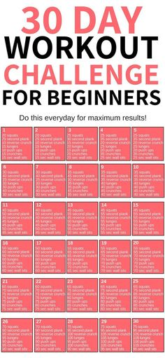 This 30 day workout challenge for beginners is THE BEST! I'm so glad I found this awesome workout challenge to help me lose weight this year! Definitely pinning this for later! plans to lose weight 30 Day Workout Challenge Weight Loss Workout Plan, At Home Workout Plan, Gym Workouts To Lose Weight, 30 Day Workouts, Weight Loss Challenge, Workout Tips, Exercise Workouts, Workout For Fat Loss, Health Motivation