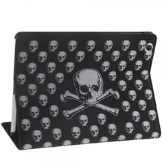 Black Gothic Fashion Skull PU Leather Folio Stand Case Cover for The new iPad 3,Ipad 2,Ipad 4 #skulls #skullstandcase more at http://skullclothing.net