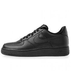 NIKE AIR FORCE 1 '07 MENS 315122-001 Black Athletic Shoes Low Sneakers Size 10.5