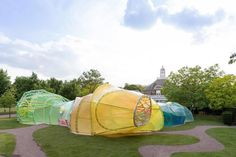 2015 Serpentine Gallery Pavilion by SelgasCano. Photograph © Iwan Baan. Image courtesy of Serpentine Galleries.. Click above to see larger image.