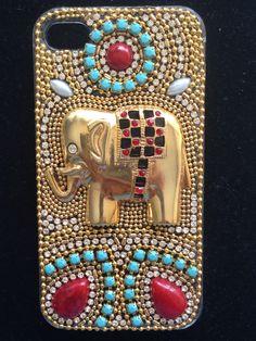 Elefante dourado Diy Phone Case, Iphone Phone Cases, Iphone 4, Cell Phone Covers, Mobile Covers, Dot Painting, Projects To Try, Smartphone, Scrap