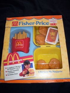Fisher Price McDonald's Chicken Nuggets and Fries Play Food ᖇ͈̮̗૩̰͘ᔿ̭̩̩ԑ͙̚Ḿ̲̳͘ʙ͛͘ʓ̻̮̀̚я̗̀¡̬̭ꏢ̣̋ Jouets Fisher Price, Fisher Price Toys, Vintage Fisher Price, Pretend Kitchen, Pretend Food, Play Food, Retro Toys, Vintage Toys, Childhood Toys