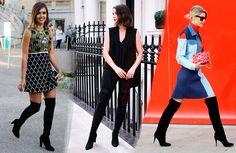 6 Τρόποι να φορέσεις Μπότες πάνω από το Γόνατο το 2016 | Woman Oclock