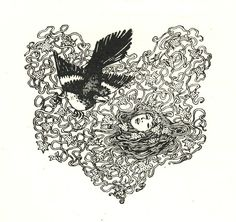 Hair Nest | By Helen Stratton  From the book, Songs For Little People, by Norman Gayle.