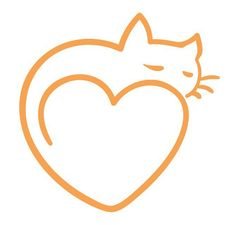 Cat love. Great simple logo!