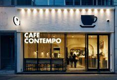 . Cafe Shop Design, Coffee Shop Interior Design, Shop Front Design, Store Design, Signage Design, Facade Design, Outdoor Restaurant Design, Cafe Exterior, Coffee Shop Bar