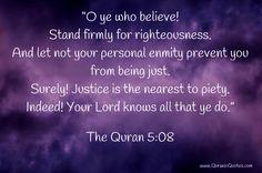 #38 The Quran 5:08 (Surah al-Ma'idah) - Quranic Quotes