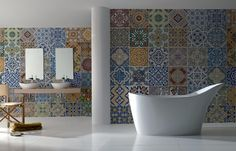 BADKAMER behang | Designwebwinkel