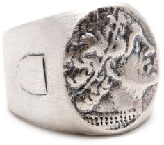 griffin Roman Ring Oxidized Sterling