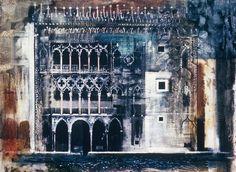 yama-bato: John Piper via Urban Landscape, Landscape Art, Landscape Paintings, Landscapes, John Piper Artist, Venice Painting, Edward Hopper, A Level Art, Architectural Features