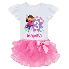Dora and Friends Birthday Fun Girl Tutu Tee | Ty's Toy Box