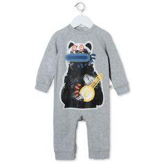 Jimbo Bear All In One - Stella Mccartney Kids Official Online Store - SS 2016 Casual Dresses, Girls Dresses, Stella Mccartney Kids, Dungarees, All In One, Baby Kids, Graphic Sweatshirt, Unisex, Sweatshirts