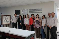 Personal directivo del Sistema de Bibliotecas en re-inauguración del CICBI (13/02/2014).